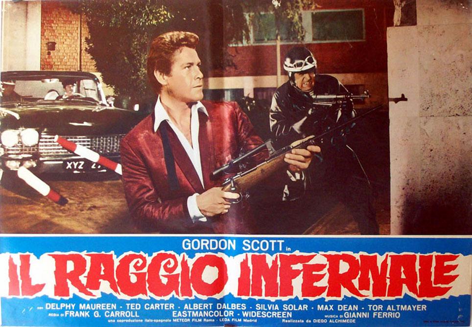 Gordon Scott in Il raggio infernale (1967)