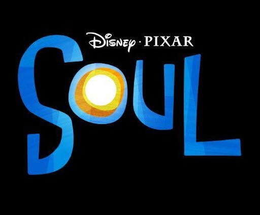 An animated image of the words: Disney- Pixar- Soul