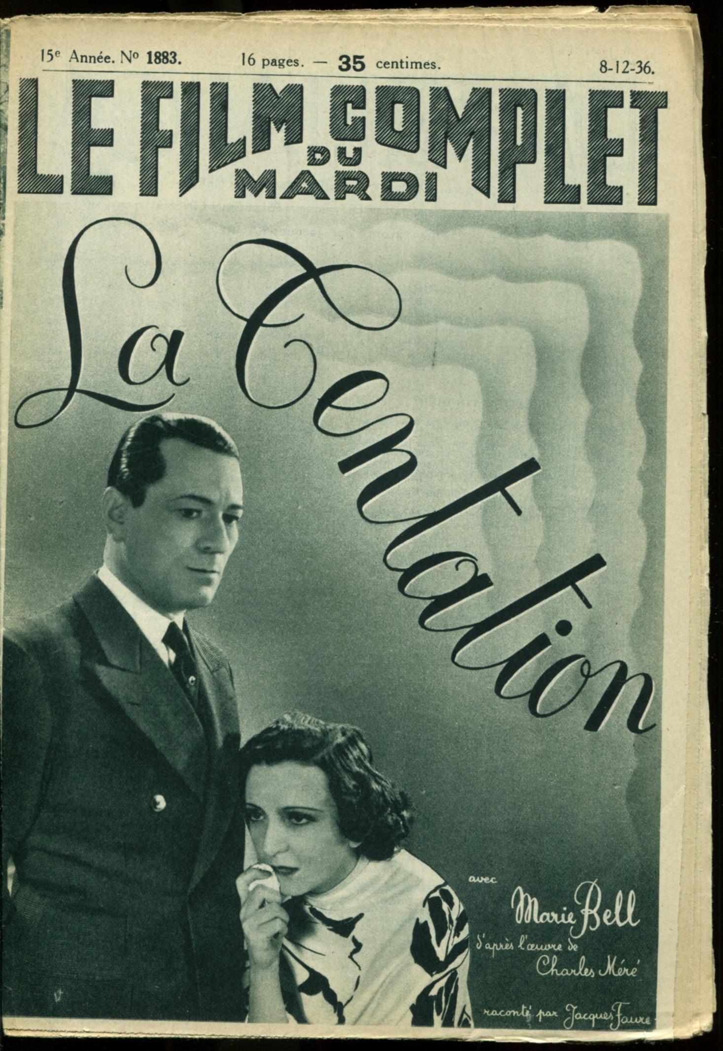 Marie Bell and Henri Rollan in La tentation (1936)