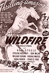 Sterling Holloway, Eddie Dean, William Farnum, Virginia Maples, and Bob Steele in Wildfire (1945)
