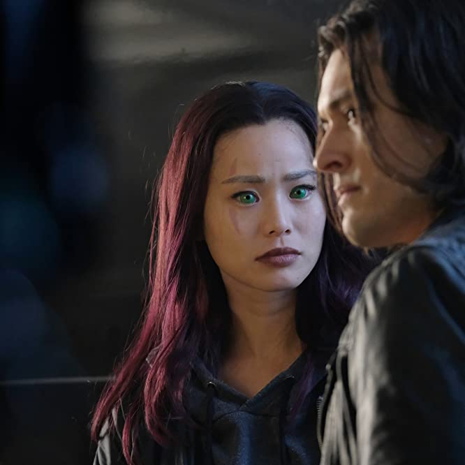 Jamie Chung and Blair Redford in The Gifted (2017)