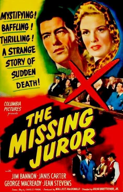 Walter Baldwin, Jim Bannon, Al Bridge, and Janis Carter in The Missing Juror (1944)