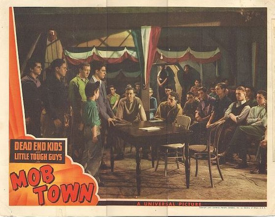 Harris Berger, Hal E. Chester, Gabriel Dell, Edward Emerson, Huntz Hall, Billy Halop, Darryl Hickman, Riley Hill, and Bernard Punsly in Mob Town (1941)