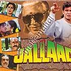 Shakti Kapoor, Mithun Chakraborty, Moushumi Chatterjee, Puneet Issar, Kader Khan, Madhoo, and Rambha in Jallaad (1995)