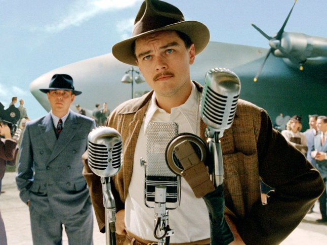 Leonardo DiCaprio and Danny Huston in The Aviator 2004
