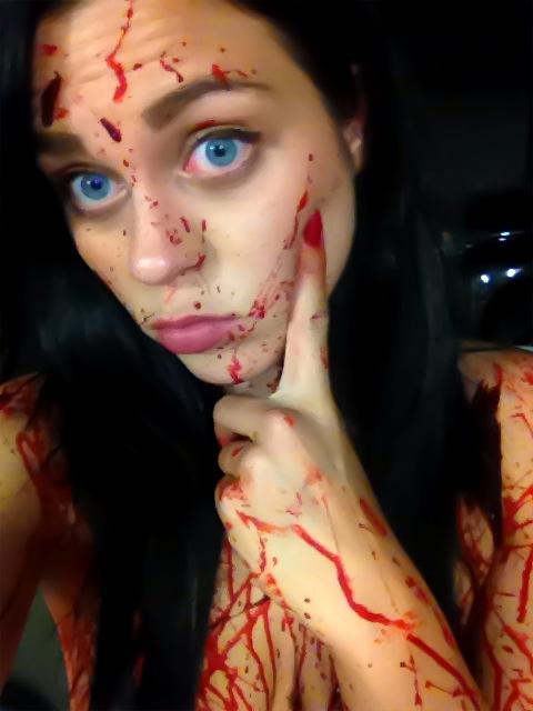 Porno Body Black Bloody Naked Woman Pic