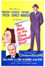 Gregory Peck, Jennifer Jones, and Fredric March in The Man in the Gray Flannel Suit (1956)
