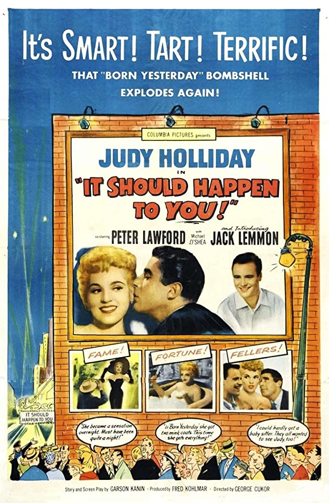 Jack Lemmon, Judy Holliday, and Peter Lawford in It Should Happen to You (1954)