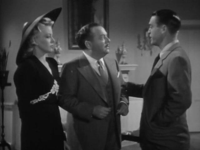 Lloyd Corrigan, Chester Morris, and Constance Worth in Boston Blackie Goes Hollywood (1942)