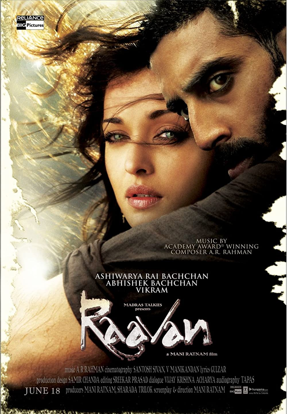 Raavan 2010 Hindi 720p HDRip 925MB ESubs Download