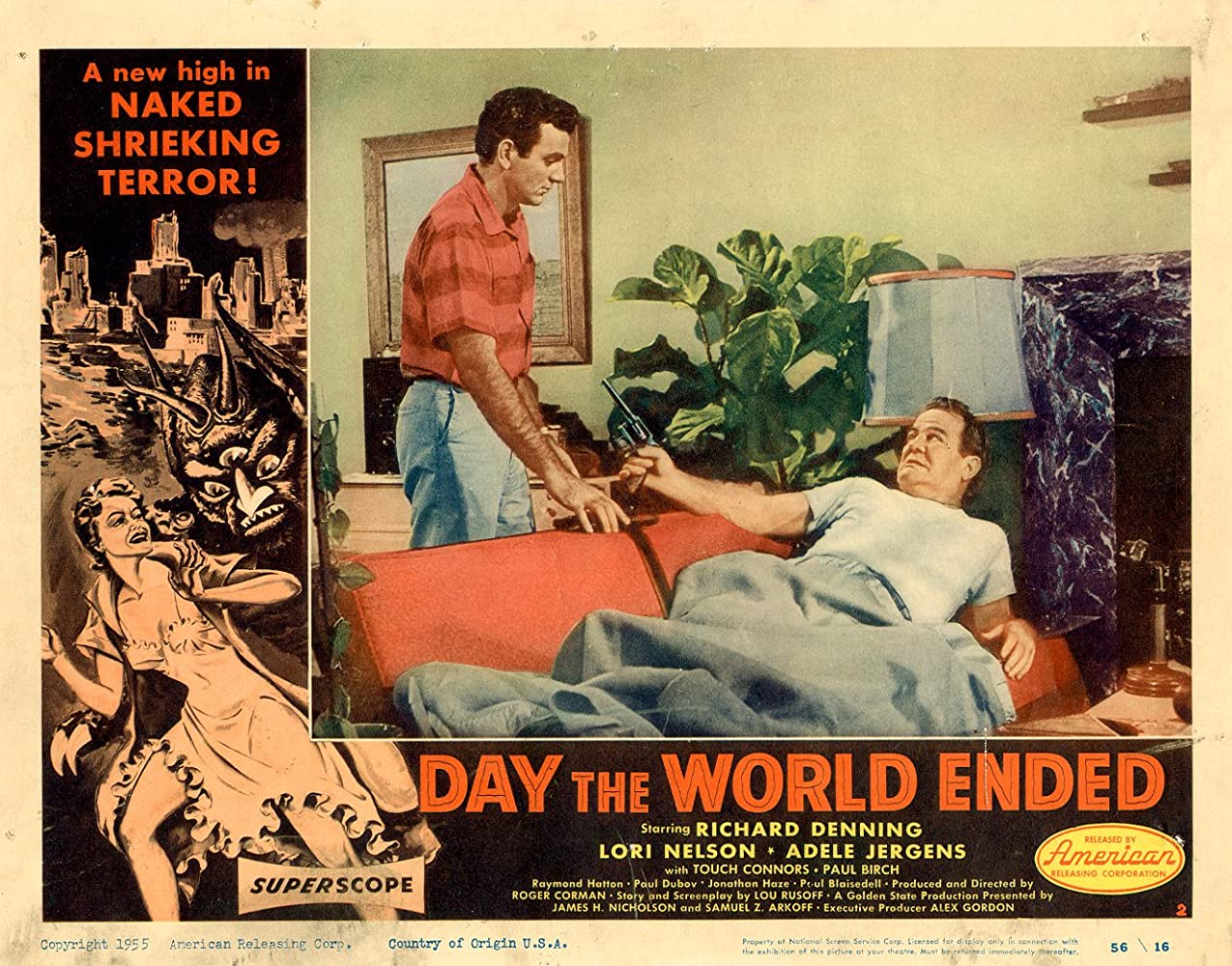 Paul Birch and Mike Connors in Day the World Ended (1955)