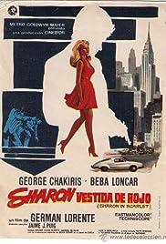 Sharon vestida de rojo Poster