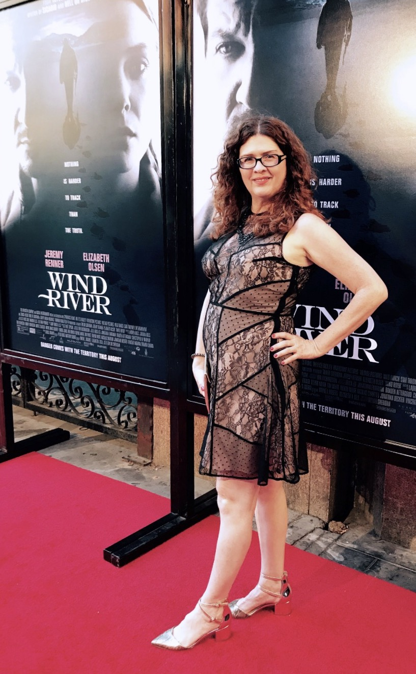 Actress Jennifer H Caldwell on the red carpet at the Los Angeles premiere of Wind River