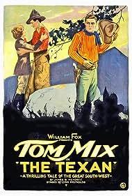 Gloria Hope, Tom Mix, and Robert Walker in The Texan (1920)