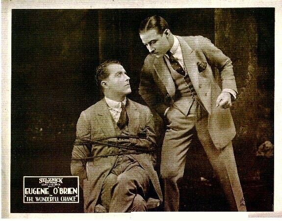 Eugene O'Brien and Rudolph Valentino in The Wonderful Chance (1920)