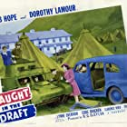 Bob Hope, Eddie Bracken, Dorothy Lamour, and Lynne Overman in Caught in the Draft (1941)