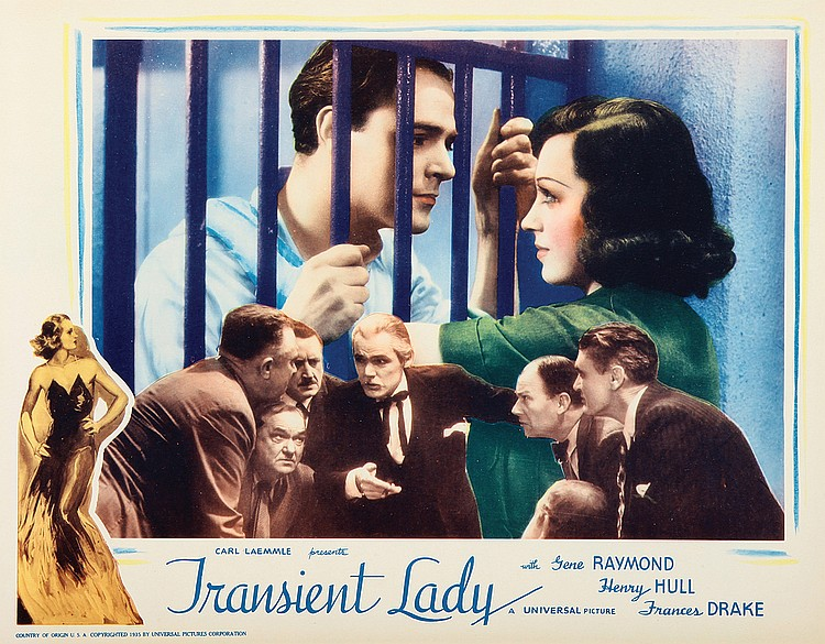 Frederick Burton, Frances Drake, Edward Ellis, Douglas Fowley, Henry Hull, Gene Raymond, Willard Robertson, and Phillip Trent in Transient Lady (1935)