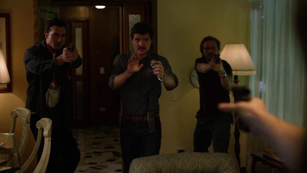Pedro Pascal, Michael Stahl-David, and Matt Whelan in Narcos (2015)