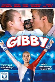 Crystal the Monkey, Shelby Lyon, and Peyton Meyer in Gibby (2016)