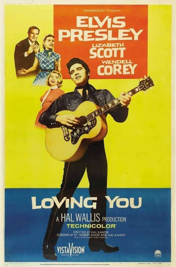 Elvis Presley, Wendell Corey, Dolores Hart, and Lizabeth Scott in Loving You (1957)