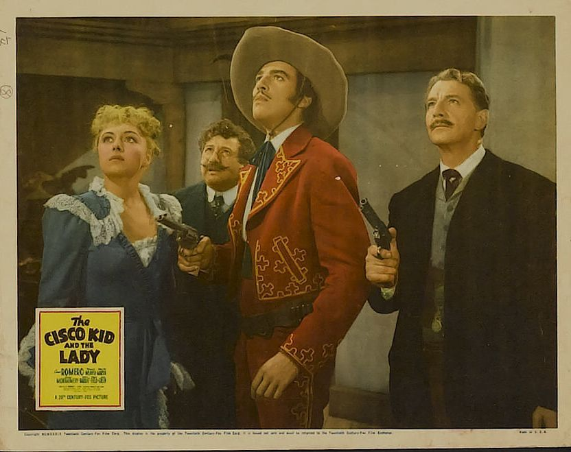 Cesar Romero, Robert Barrat, Virginia Field, and Chris-Pin Martin in The Cisco Kid and the Lady (1939)