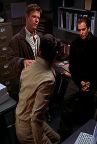 Sasha Alexander, Joel Gretsch, and Michael Weatherly in NCIS: Naval Criminal Investigative Service (2003)