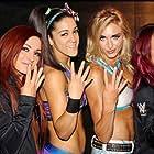Pamela Martinez, Rebecca Quin, Ashley Fliehr, and Sasha Banks in The Four Horsewomen Of NXT (2016)