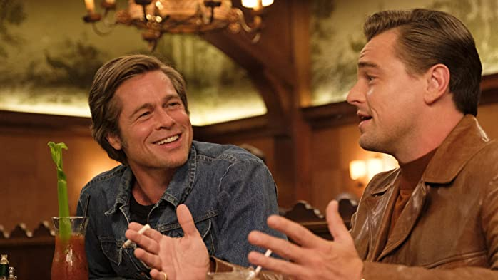 Brad Pitt and Leonardo DiCaprio in Once Upon a Time ... in Hollywood (2019)