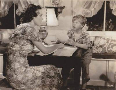 Maureen O'Sullivan and Mickey Rooney in Hide-Out (1934)