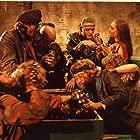 Jean-Christophe Brétignière, Ottaviano Dell'Acqua, Gianni Franco, Christian Fremont, Geretta Geretta, Fausto Lombardi, and Moune Duvivier in Rats - Notte di terrore (1984)