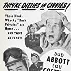 Bud Abbott, Lou Costello, Nat Pendleton, Joan Shawlee, and Beverly Simmons in Buck Privates Come Home (1947)