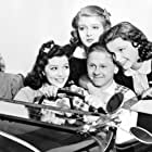 Judy Garland, Mickey Rooney, Lana Turner, Cecilia Parker, and Ann Rutherford in Love Finds Andy Hardy (1938)