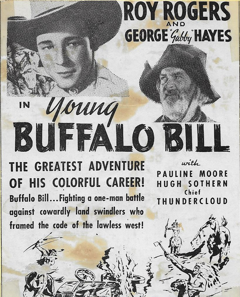Roy Rogers and George 'Gabby' Hayes in Young Buffalo Bill (1940)
