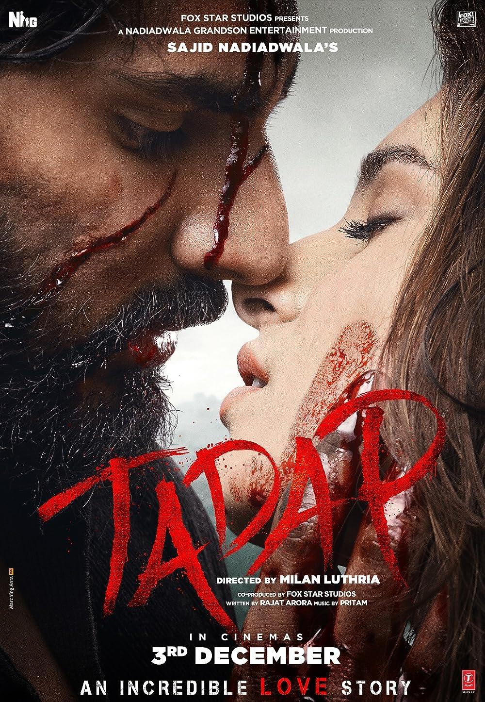 Tadap 2021 Hindi Movie Official Trailer 1080p HDRip Download