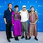 Quan'an Wang, Dulamjav Enkhtaivan, Aorigeletu, and Aymerick Pilarski at an event for Öndög (2019)
