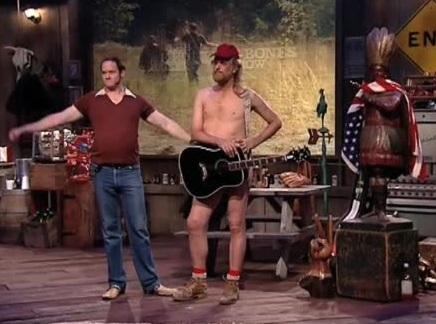 Dave Allen and David Koechner in The Naked Trucker and T-Bones Show (2007)