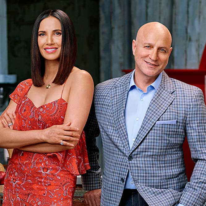 Padma Lakshmi and Tom Colicchio in Top Chef (2006)