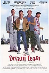 Michael Keaton, Christopher Lloyd, Peter Boyle, and Stephen Furst in The Dream Team (1989)