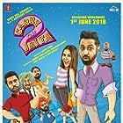 Gurpreet Ghuggi, B.N. Sharma, Jaswinder Bhalla, Binnu Dhillon, Karamjit Anmol, Gippy Grewal, and Sonam Bajwa in Carry on Jatta 2 (2018)