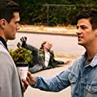Grant Gustin and Hartley Sawyer in The Flash (2014)