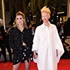 Tilda Swinton and Honor Swinton Byrne at an event for Les Olympiades, Paris 13e (2021)