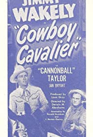 Jan Bryant, Arthur 'Fiddlin' Smith, Dub Taylor, Jimmy Wakely, Don Weston, and Louis Armstrong in Cowboy Cavalier (1948)