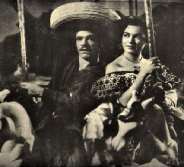 Rosa de Castilla and Germán Valdés in El mariachi desconocido (1953)