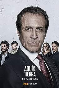 Gael García Bernal, Daniel Giménez Cacho, Alfonso Dosal, Tenoch Huerta, and Paulina Dávila in Aquí en la Tierra (2018)
