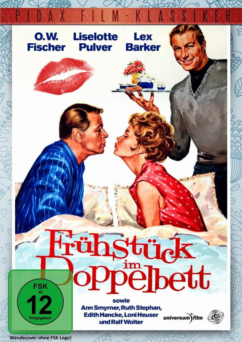 Lex Barker, Liselotte Pulver, and O.W. Fischer in Frühstück im Doppelbett (1963)