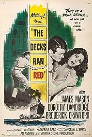 James Mason, Dorothy Dandridge, and Stuart Whitman in The Decks Ran Red (1958)