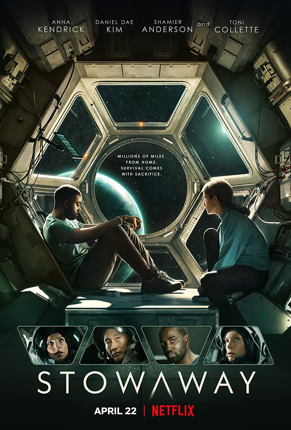 Stowaway 2021 Hindi ORG Dual Audio 720p NF HDRip MSubs 850MB Download