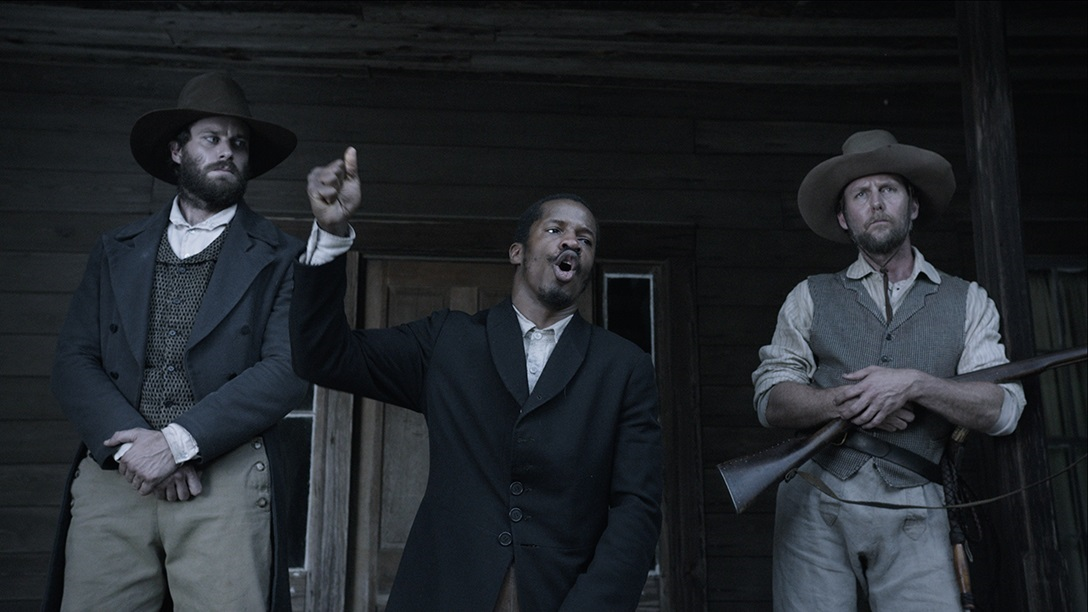 Nate Parker, Jayson Warner Smith, and Armie Hammer in The Birth of a Nation (2016)
