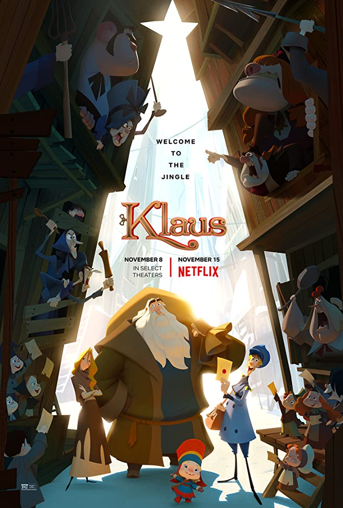 Joan Cusack, Jason Schwartzman, Rashida Jones, Sergio Pablos, Will Sasso, J.K. Simmons, and Neda Margrethe Labba in Klaus (2019)