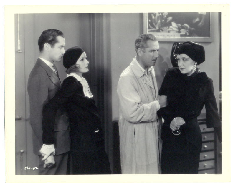 Greta Garbo, John Miljan, Robert Montgomery, and Judith Vosselli in Inspiration (1931)